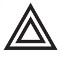 Symbol showing, in contour, two equilateral triangles, one inside the other.