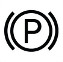Symbol showing, in contour, between parentheses, a circle containing the letter P.