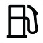 Symbol showing, in contour, the front view of a gas pump.