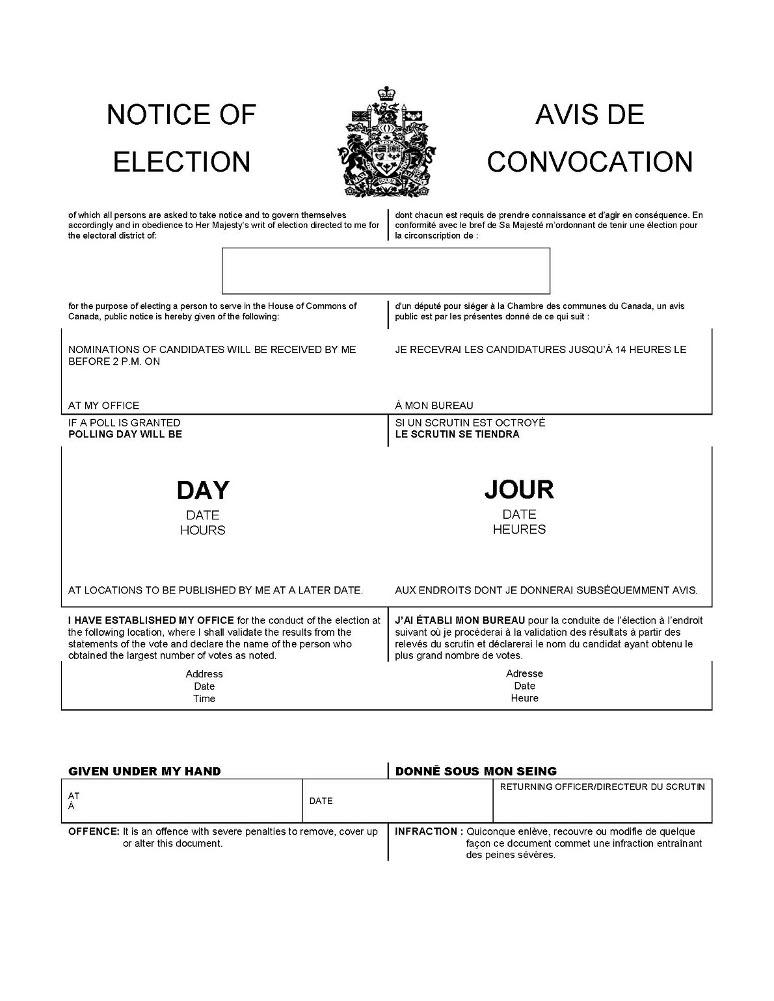 ARCHIVED - Canada Elections Act
